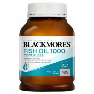 Blackmores 澳佳宝无腥味深海鱼油软胶囊 1000mg 400粒