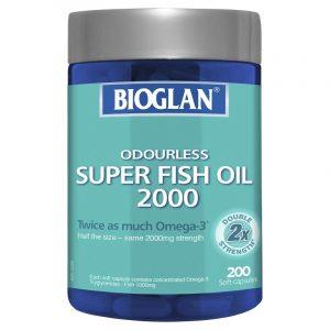 Bioglan 宝兰 2000mg 无味超级鱼油胶囊 200粒