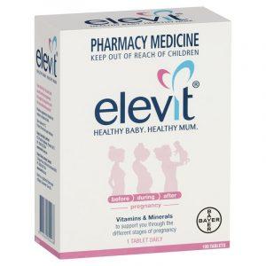 Elevit爱乐维孕妇复合维生素 女士备孕孕期哺乳 100片