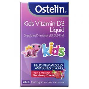 Ostelin 婴幼儿/儿童液体维生素D滴剂(200IU) 补钙 草莓味 20ml