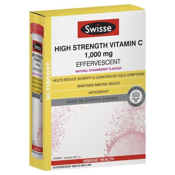 Swisse 高浓度浓缩维生素C VC 泡腾片60片