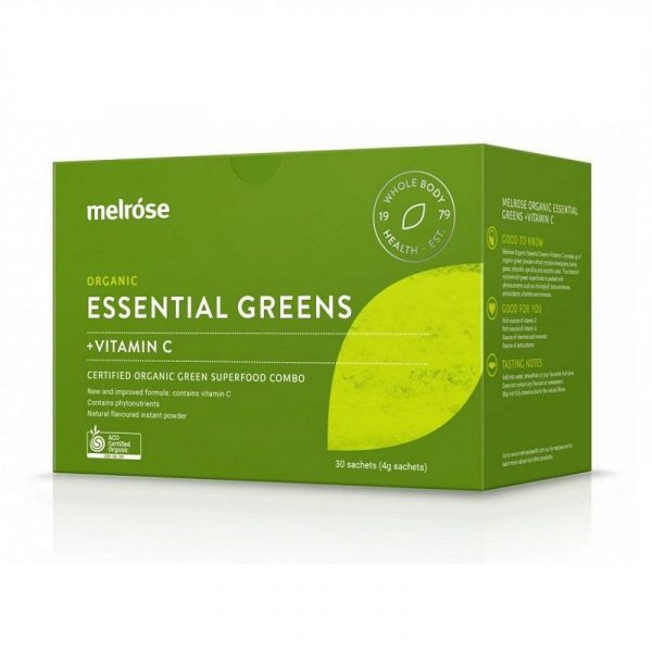 Melrose ESSENTIAL GREENS+VITAMIN C 麦萝氏 全能维C精粹粉30包 3g*30