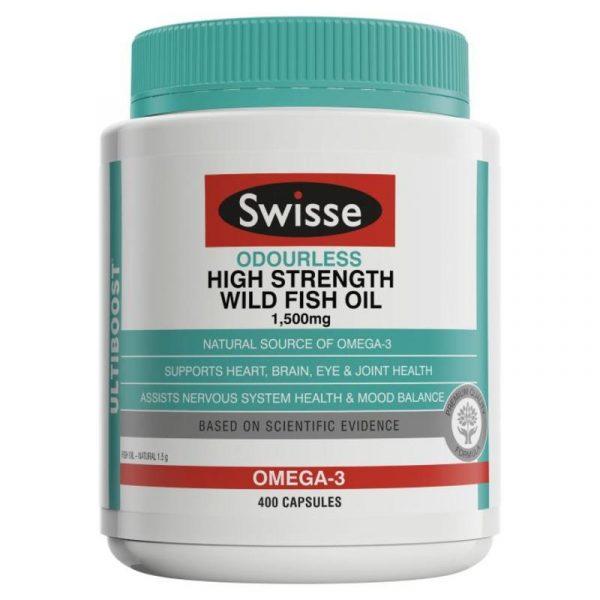 Swisse 无味高品质野生鱼油胶囊 400粒