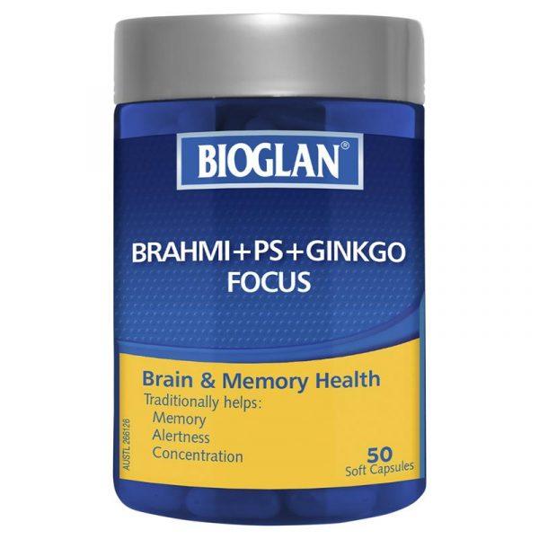 澳洲Bioglan婆罗米银杏健脑胶囊,50粒