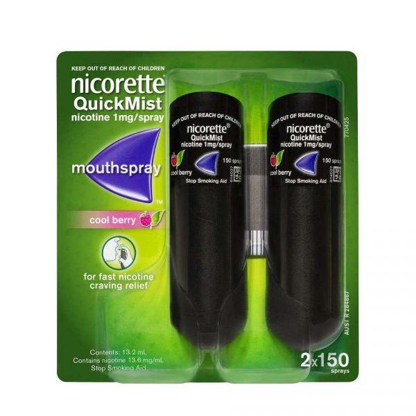 Nicorette力克雷尼古丁戒烟口腔喷雾 梅子口味 2x150次喷雾