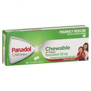 Panadol必理痛儿童咀嚼片3岁以上 樱桃味24片