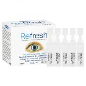 Refresh Eye Drops 抗疲劳滴眼液/眼药水 (独立装 无防腐剂)