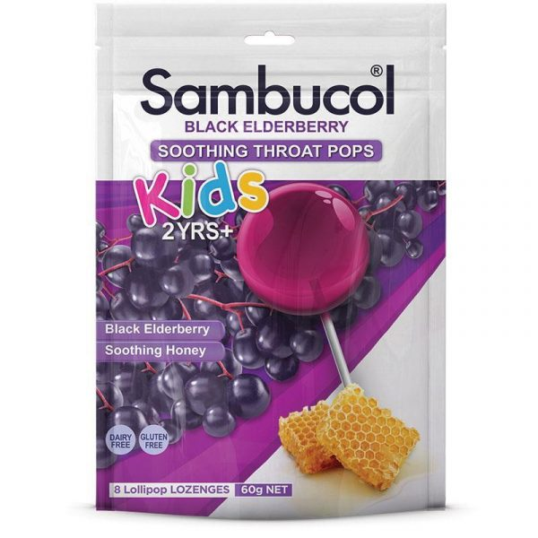 Sambucol 儿童舒缓喉咙黑接骨木润喉糖 8粒
