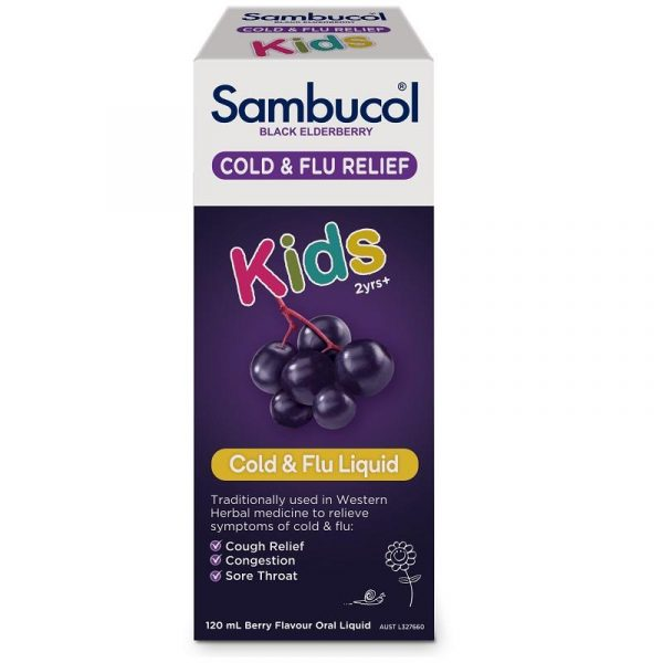 Sambucol Kids Cold&Flu 儿童黑接骨木感冒水 120ml