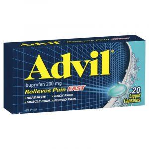 Advil止痛液体胶囊,20粒