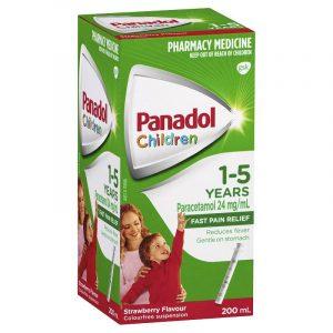Panadol必理痛儿童感冒退烧止痛剂1-5岁 草莓味 200ml