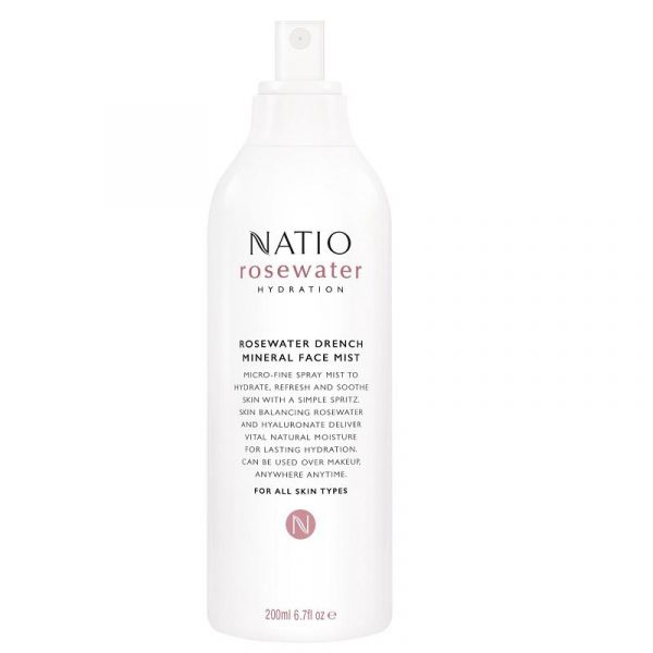 Natio 娜迪奥 玫瑰保湿滋养面部护肤喷雾 200ml