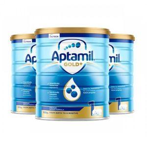 Aptamil 爱他美金婴幼儿奶粉 1段 0-6个月宝宝 900g 罐装 【 3罐包邮】