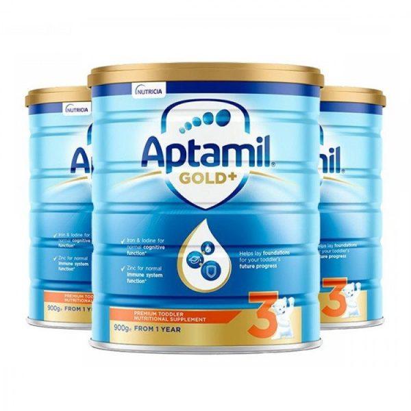 Aptamil 爱他美金婴幼儿奶粉 3段 1岁 -2岁 宝宝 900g 罐装 【 3罐包邮】 (复制)