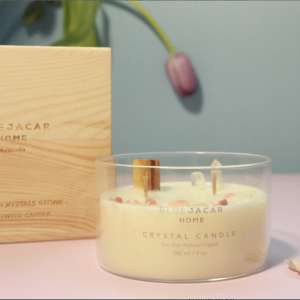 Promise Sandalwood Crystal Scented Soy Candle
