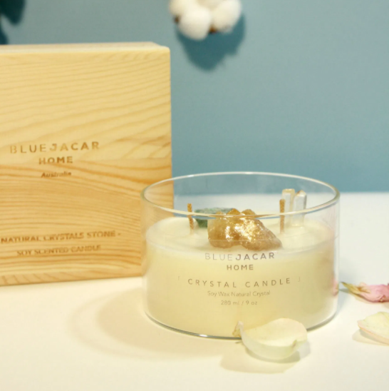 Summer Sea Breeze Crystal Scented Soy Candle