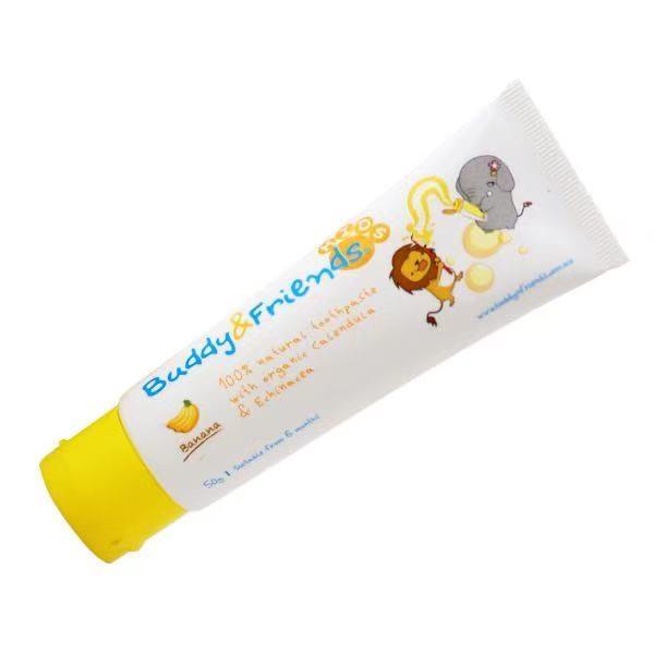 Buddy N Friends 100%天然牙膏- 香蕉口味 50g