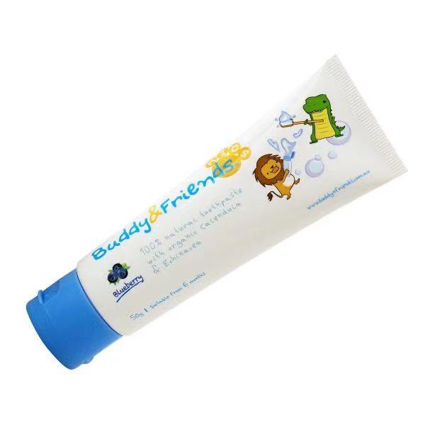 Buddy N Friends 100%天然儿童牙膏 - 蓝莓口味