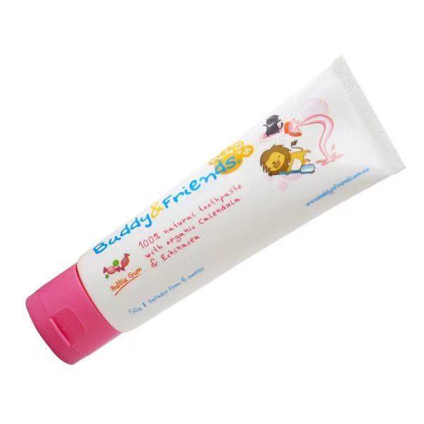Buddy N Friends 100%天然儿童牙膏 - 泡泡糖口味