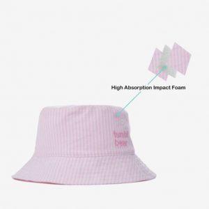 Tumbl Bear 渔夫帽 兒童安全帽 (粉红条纹)